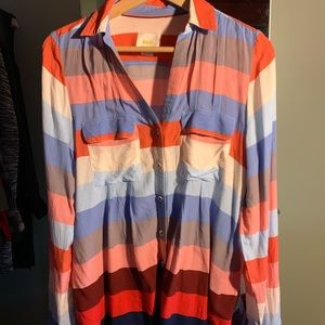 Anthropologie Maeve striped button down size US 8